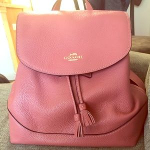 Pink Coach Elle Backpack